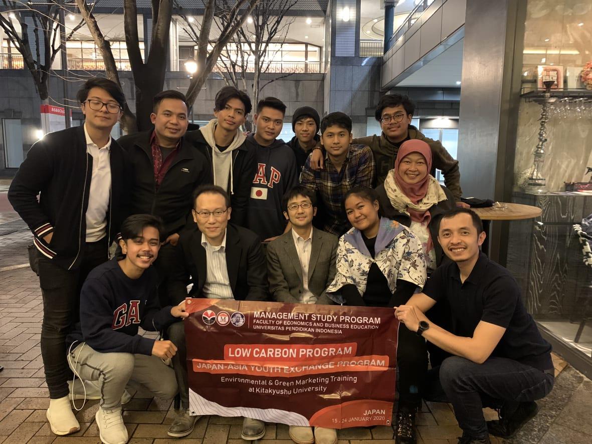 Mahasiswa Manajemen FPEB UPI mengikuti  Low Carbon Exchange Program 2020  – The University of Kitakyushu, Jepang