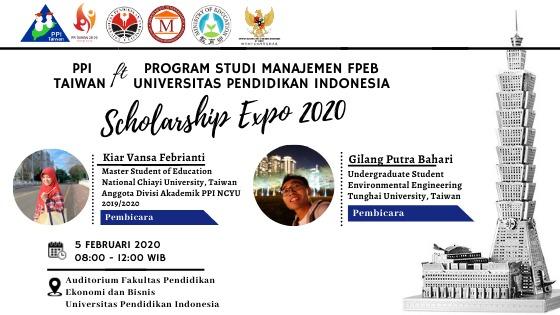 Prodi Manajemen FPEB & PPI TAIWAN Gelar Scholarship Expo 2020