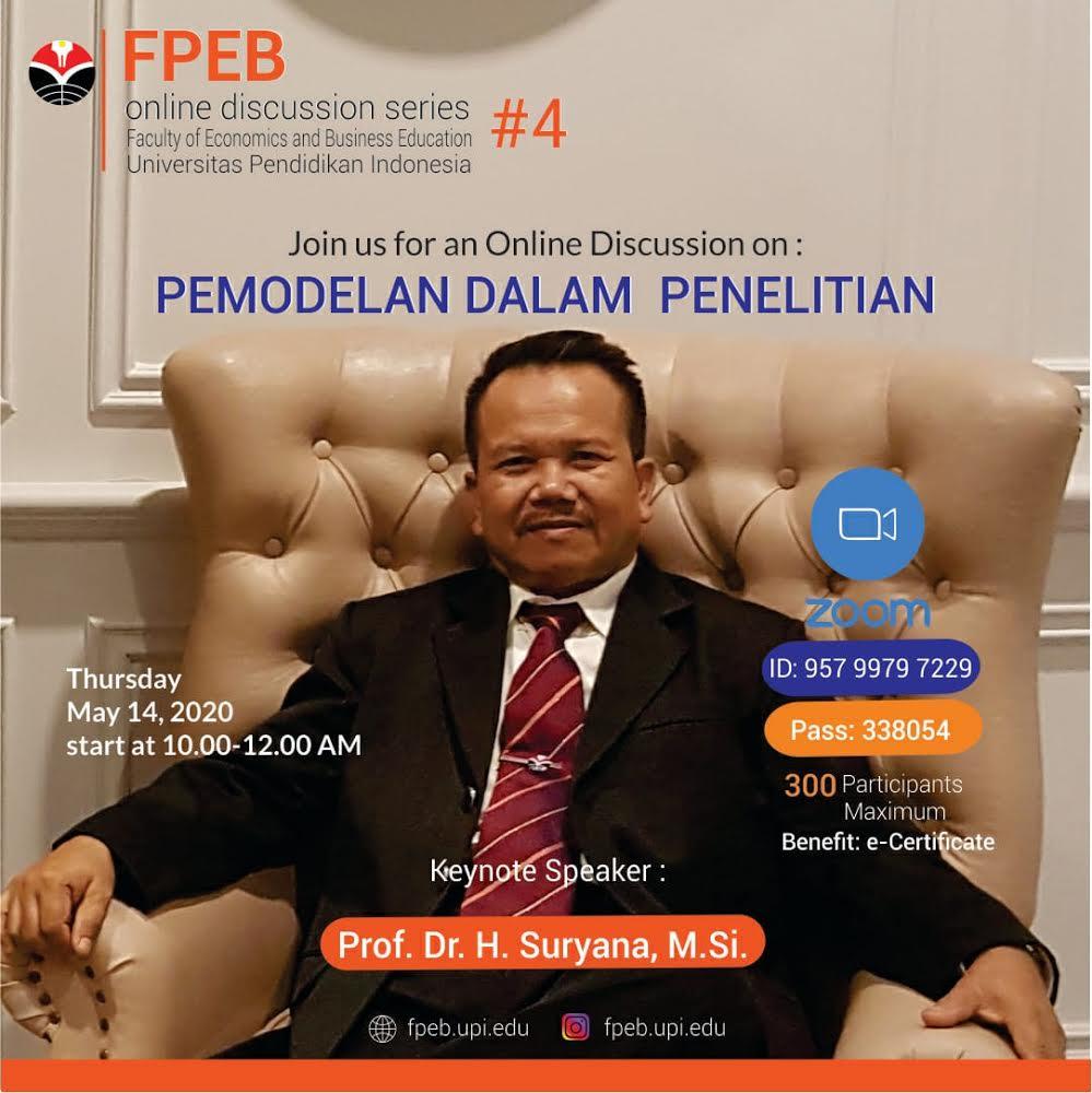 FPEB Online Discussion : Pemodelan dalam Penelitian
