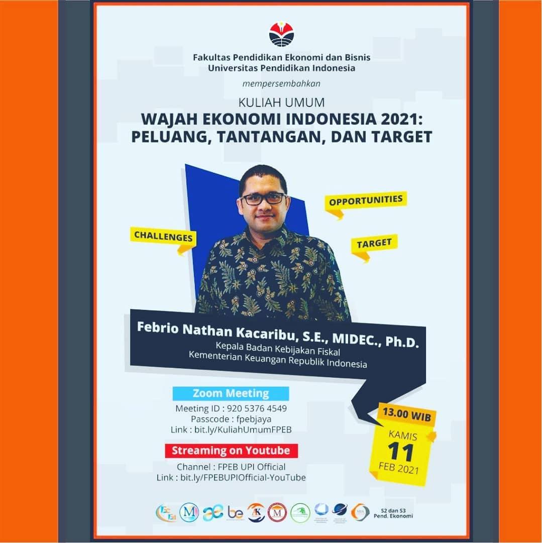 WAJAH EKONOMI INDONESIA 2021: PELUANG, TANTANGAN DAN TARGET