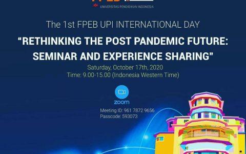 RETHINKING THE POST PANDEMIC FUTURE: SEMINAR AND EXPERIENCE SHARING