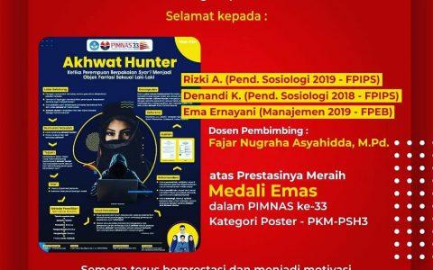 Poster Akhwat Hunter Karya Ema Ernayani dan Tim Raih Medali Emas di PIMNAS UGM 2020