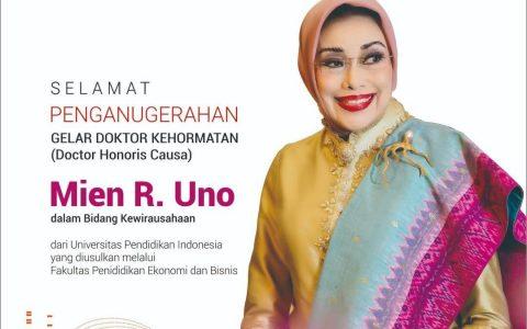 Ibu Mien R Uno Raih Gelar Doktor Honoris Causa di Bidang Kewirausahaan